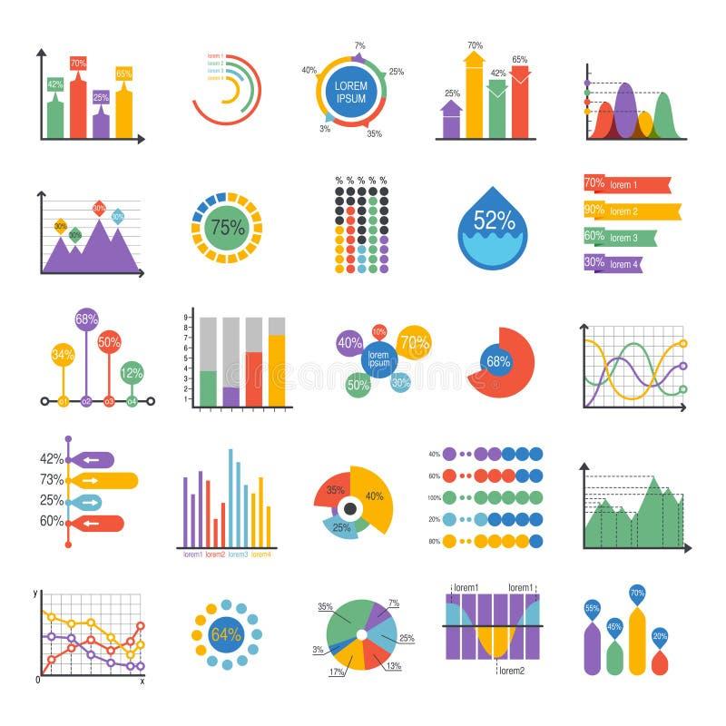 Analytics vectorelementen van de bedrijfsgegevensgrafiek vector illustratie
