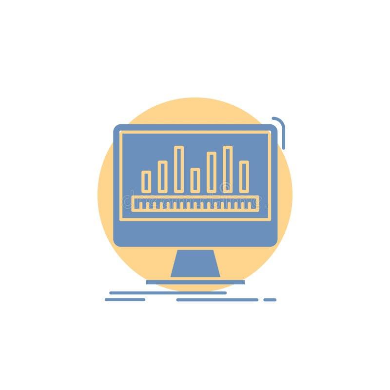 Analytics, verarbeitend, Armaturenbrett, Daten, Notfall-Glyph-Ikone stock abbildung