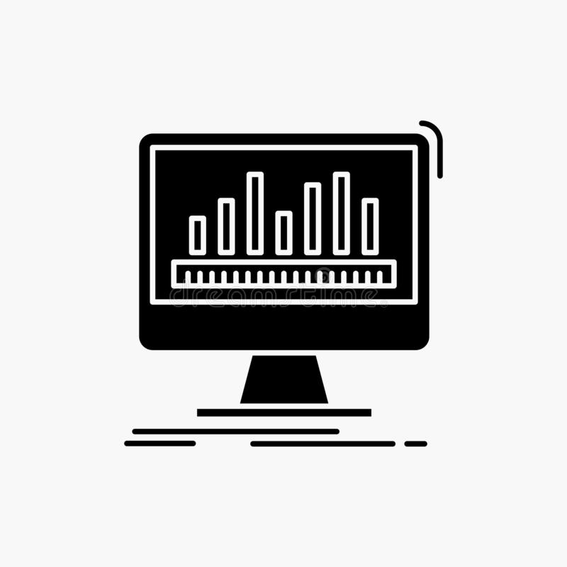 Analytics, verarbeitend, Armaturenbrett, Daten, Notfall-Glyph-Ikone Vektor lokalisierte Illustration stock abbildung