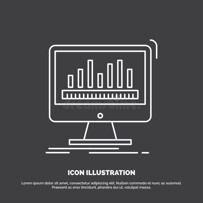 analytics, verwerking, dashboard, gegevens, stats Pictogram Lijn vectorsymbool voor UI en UX, website of mobiele toepassing vector illustratie