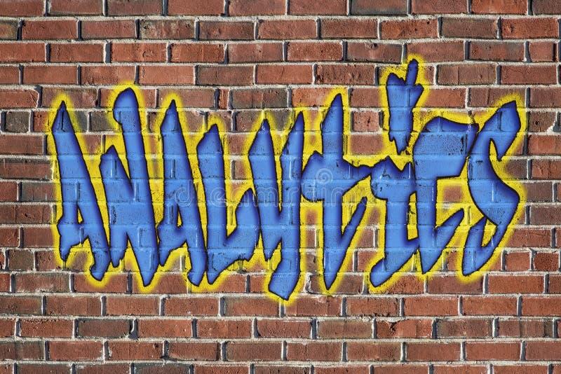 Analytics word - as a graffiti stock image