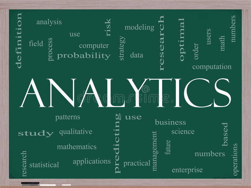 Download Analytics Word Cloud Concept On A Blackboard Stock Illustration - Image: 23331296