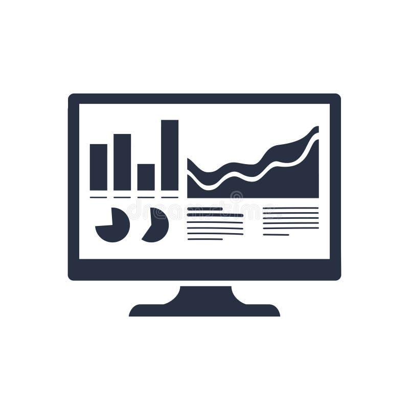 Analyticsbildskärmsymbol Moderiktiga plana vektorAnalytics övervakar symbolen på genomskinlig bakgrund från affärsanalytics stock illustrationer