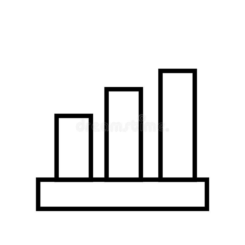 Analyticsikonenvektor lokalisiert auf weißem Hintergrund, Analyticszeichen lizenzfreie abbildung