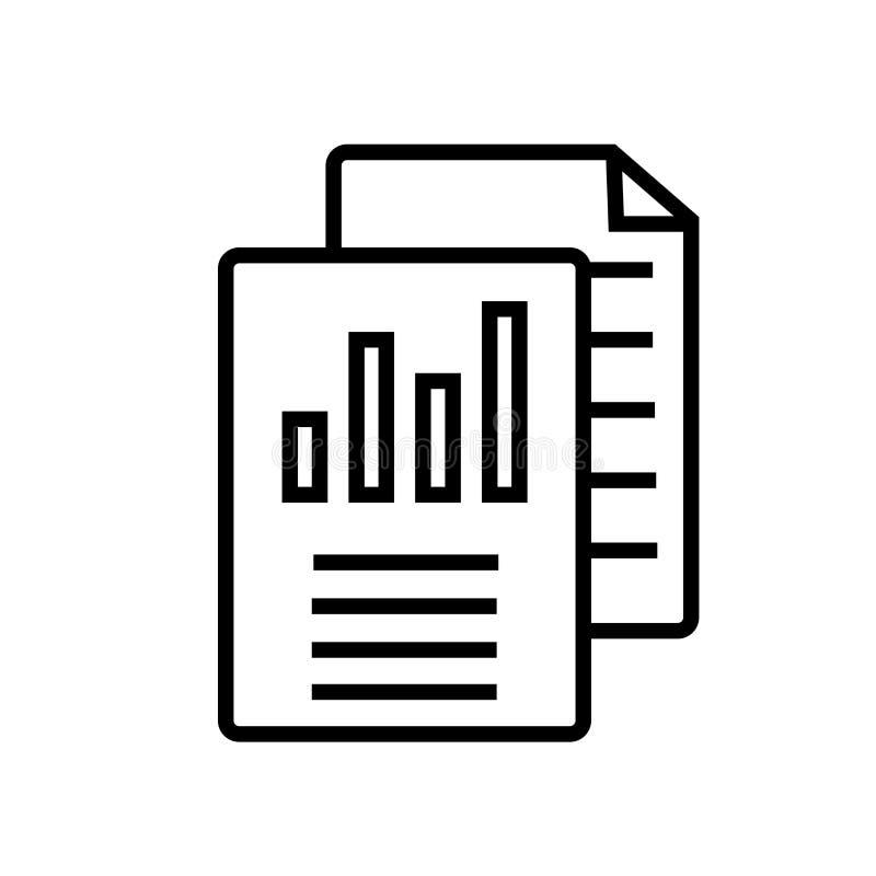 Analyticsikonenvektor lokalisiert auf weißem Hintergrund, Analyticszeichen stock abbildung