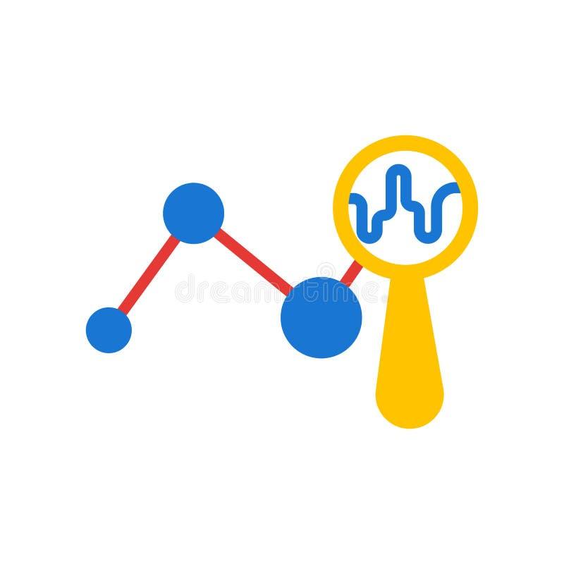 Analyticsikonenvektorzeichen und -symbol lokalisiert auf weißem Hintergrund vektor abbildung
