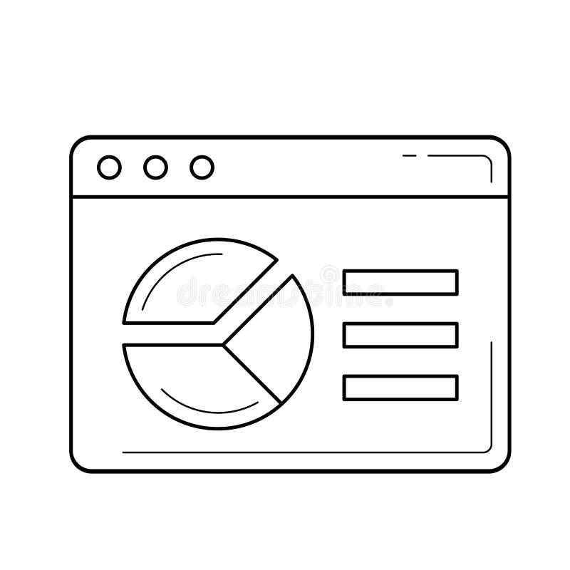 Analyticslinje symbol stock illustrationer