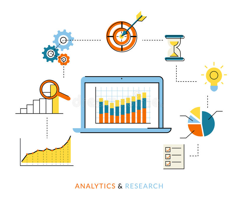 Analyticsproces stock illustratie