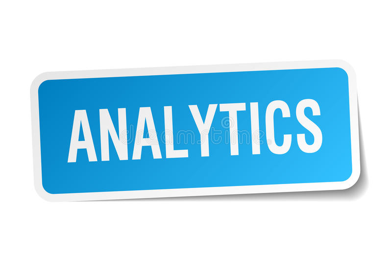 Analyticssticker vector illustratie