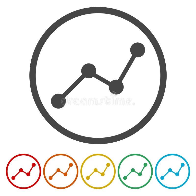 Analyticsvektorsymbol vektor illustrationer