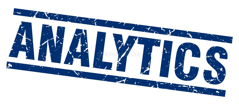 Analyticszegel royalty-vrije illustratie