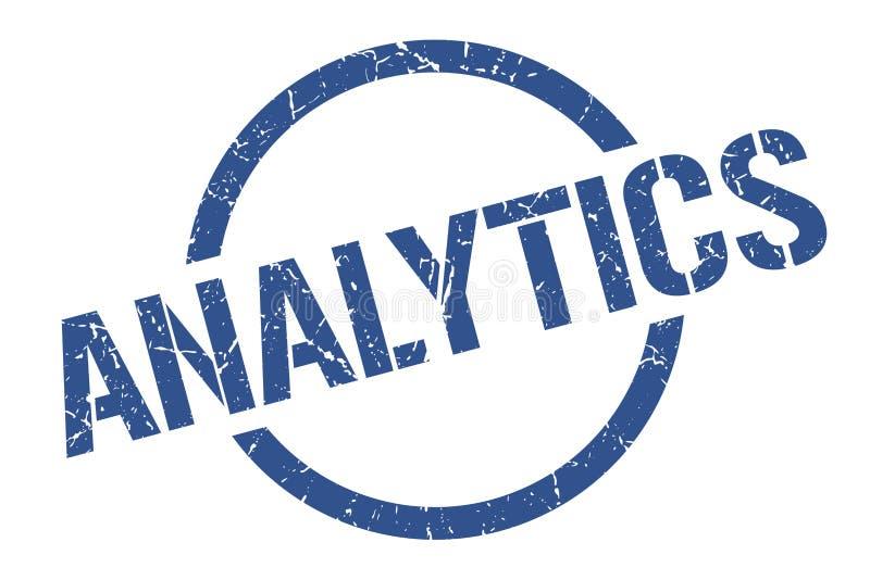 Analyticszegel stock illustratie