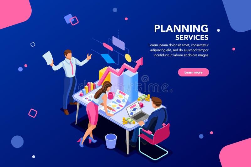 Analytiker Financial Template för Website royaltyfri illustrationer
