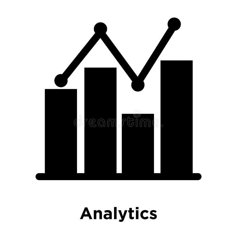 Analytikikonenvektor lokalisiert auf weißem Hintergrund, Logokonzept lizenzfreie abbildung
