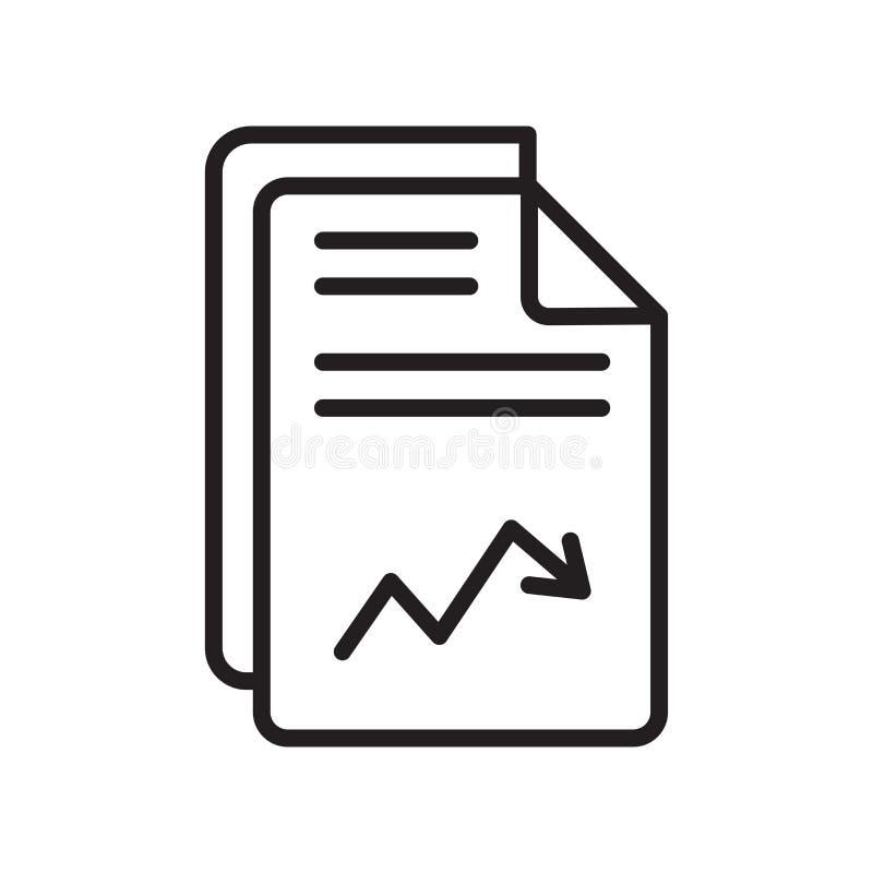Analytikikonenvektorzeichen und -symbol lokalisiert auf weißem backgrou vektor abbildung