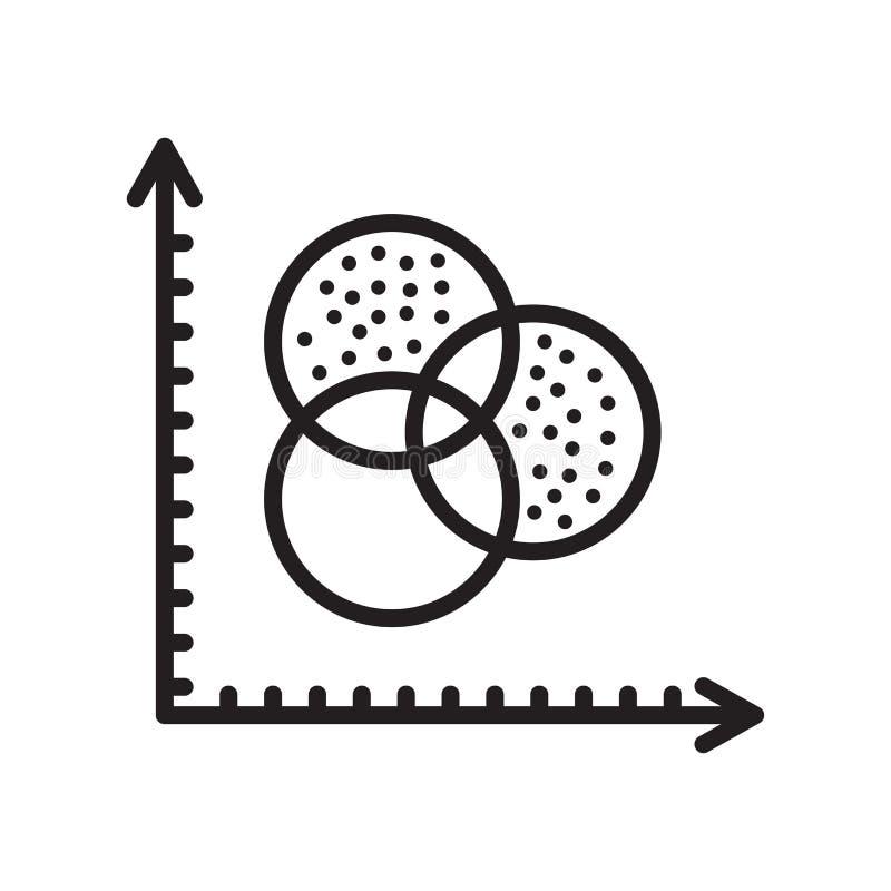 Analytikikonenvektorzeichen und -symbol lokalisiert auf weißem backgrou stock abbildung