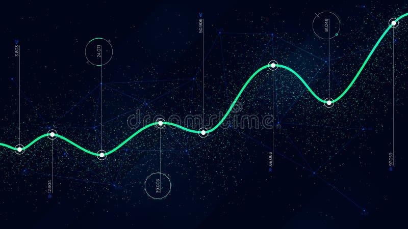 Analytique infographic de grandes de données d'algorithmes technologies de visualisation illustration de vecteur