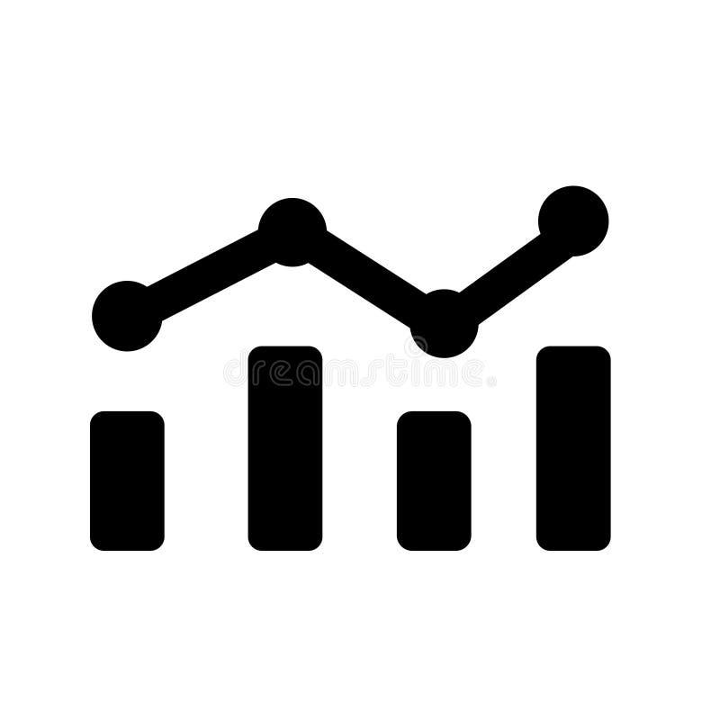 Analytisk statisk vektorsymbol logo för schemaillustrationsymbol vektor illustrationer