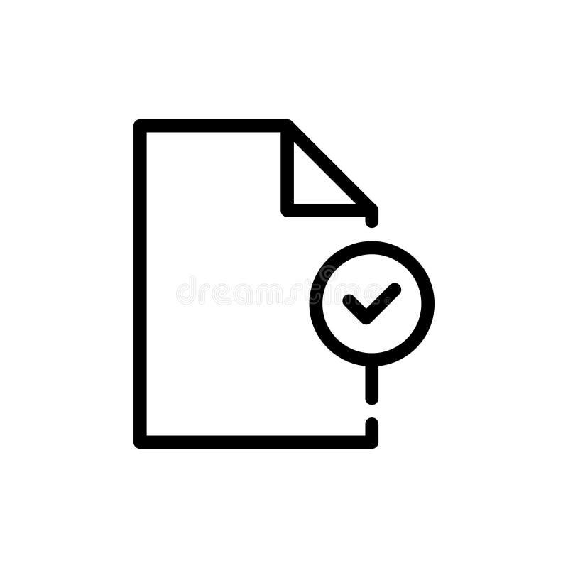 Analytisk symbol för dokument vektor illustrationer