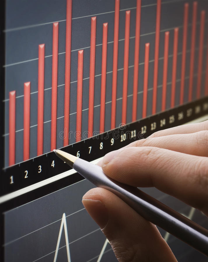 Download Analyzing chart on monitor stock image. Image of exchange - 15467437