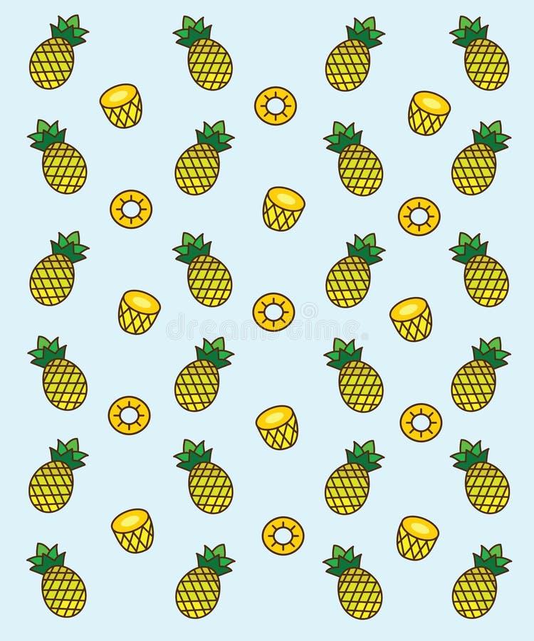Ananas är gul frukt att det är passande för en läcker sommarsäsong royaltyfri fotografi