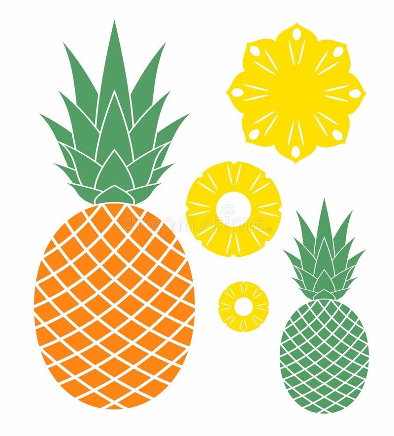 Download Ananas vector illustratie. Illustratie bestaande uit fruit - 39110827