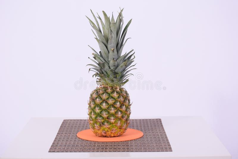 Ananas, ananas, usine, pot de fleurs photos stock