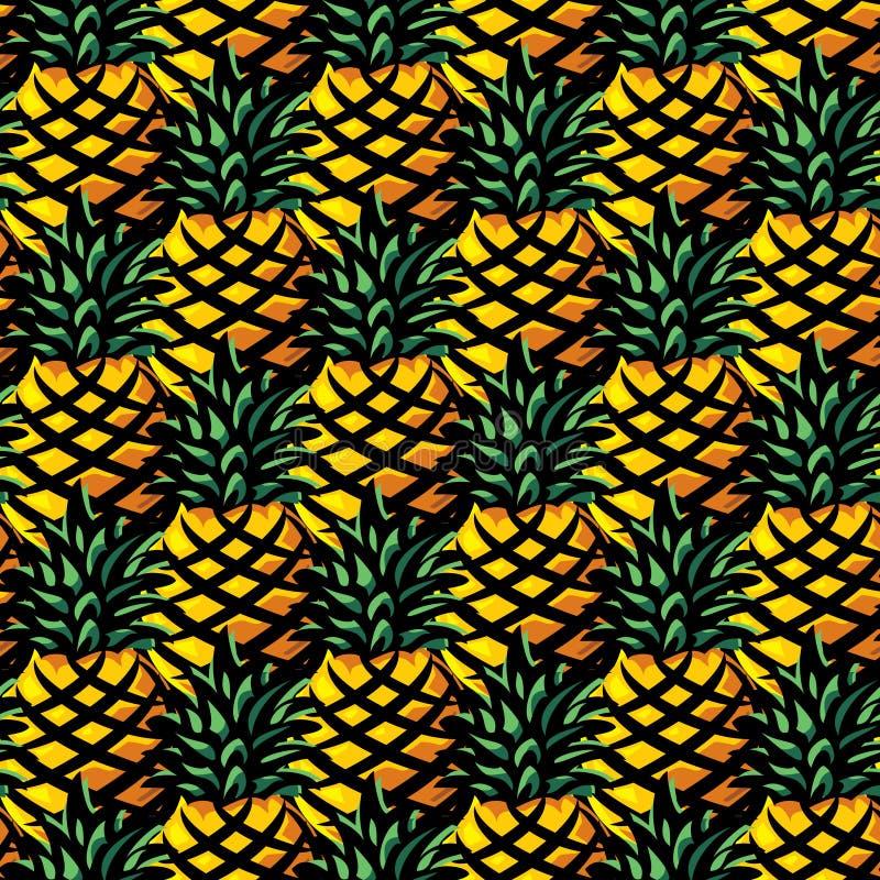 Ananas background stock illustration