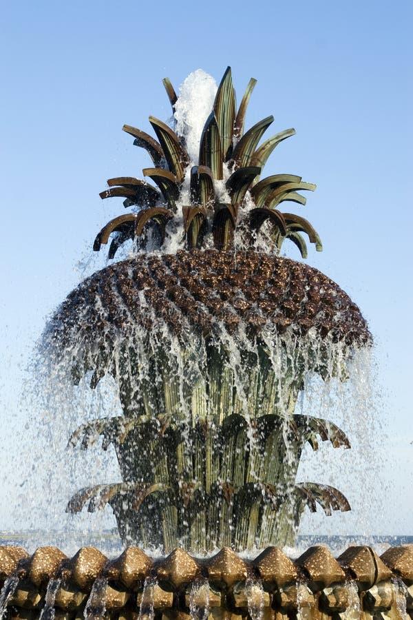 Ananas-Brunnen in Charleston, Sc stockbild