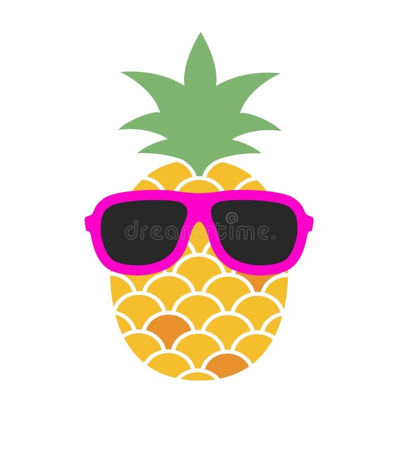 Ananas con gli occhiali da sole Illustrazione di divertimento royalty illustrazione gratis