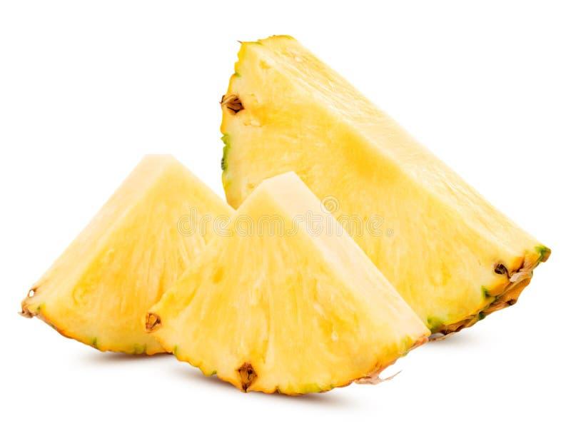Ananas con le fette immagini stock