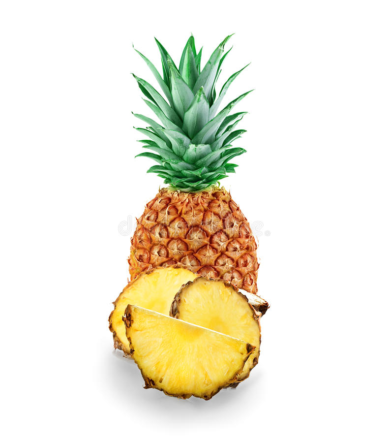 Ananas d'isolement photographie stock