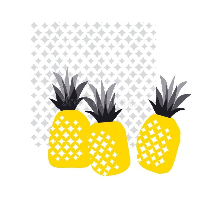 Ananas decorativo astratto di estate royalty illustrazione gratis