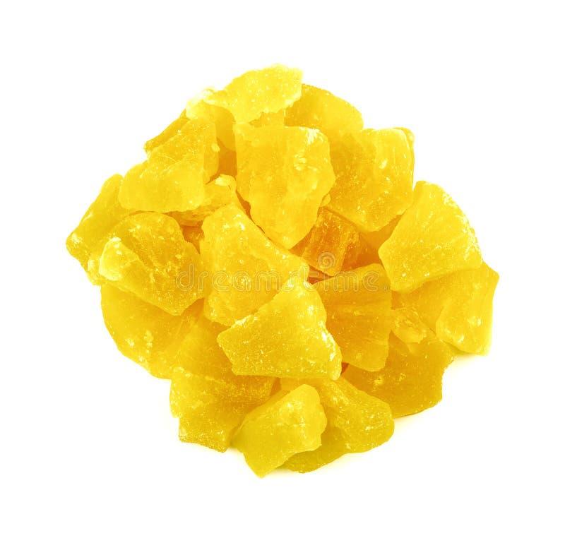 Ananas disidratato secco fotografie stock libere da diritti