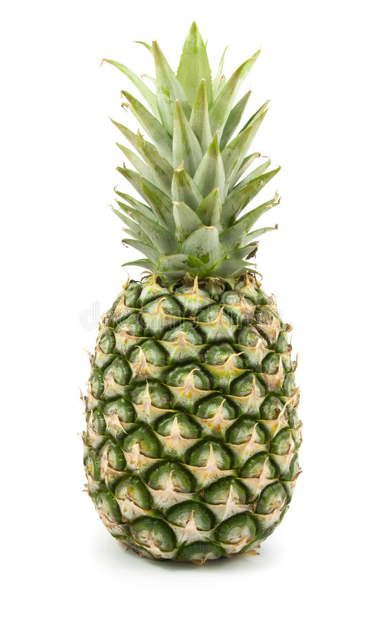 Ananas frais et juteux d'isolement photo libre de droits