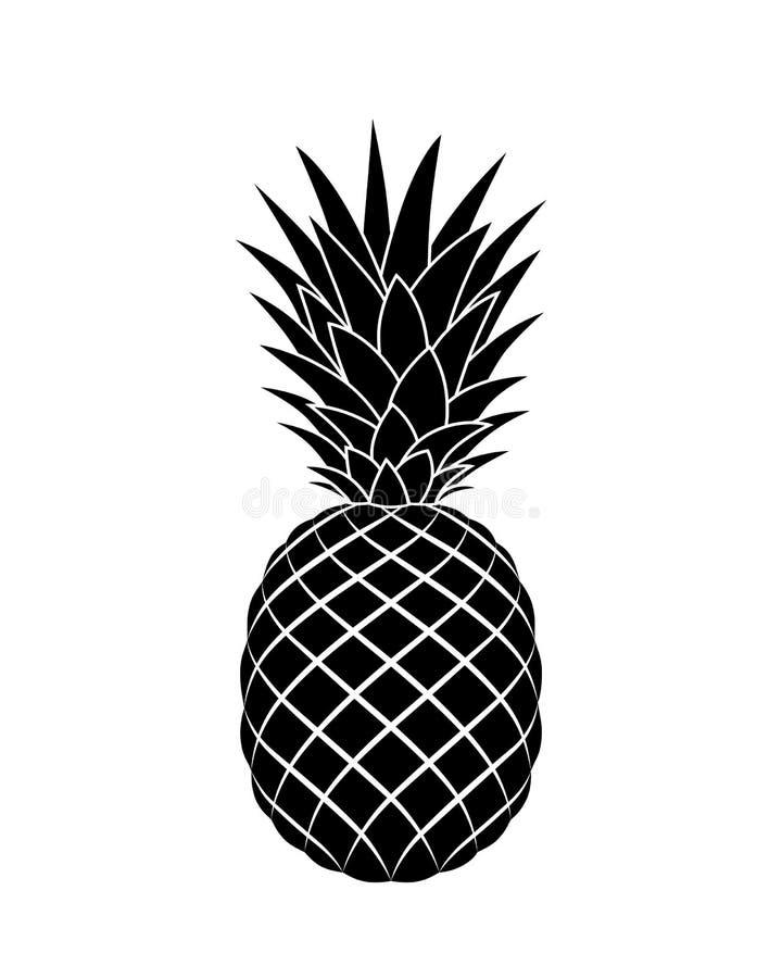 Ananas grafisch teken Symbool tropisch sappig fruit royalty-vrije illustratie