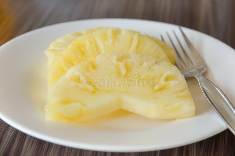 Ananas i rozwidlenie zdjęcie stock