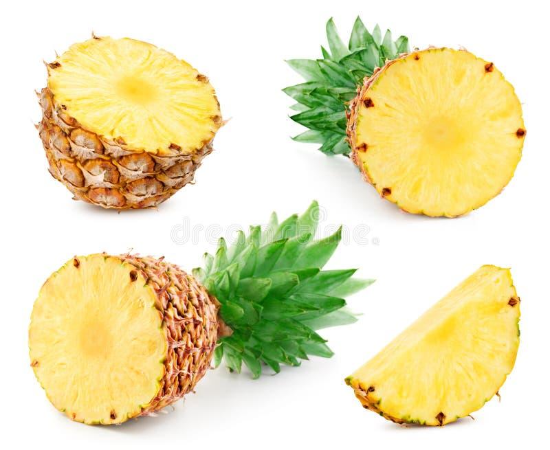 Ananas isolato su bianco fotografie stock