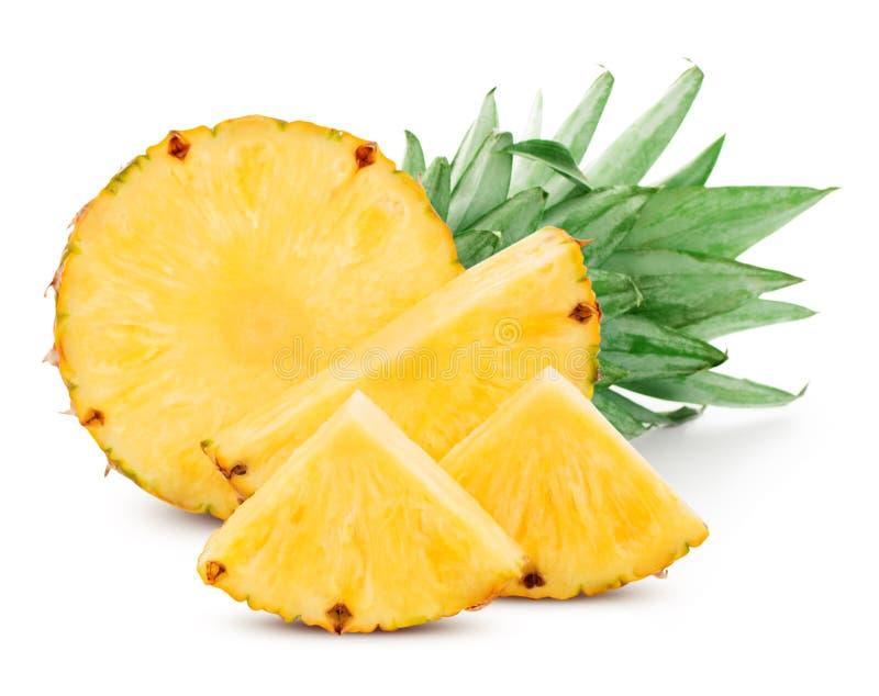 Ananas isolato su bianco fotografie stock libere da diritti