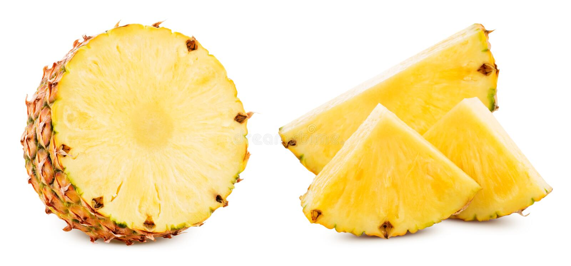 Ananas isolato su bianco immagine stock libera da diritti