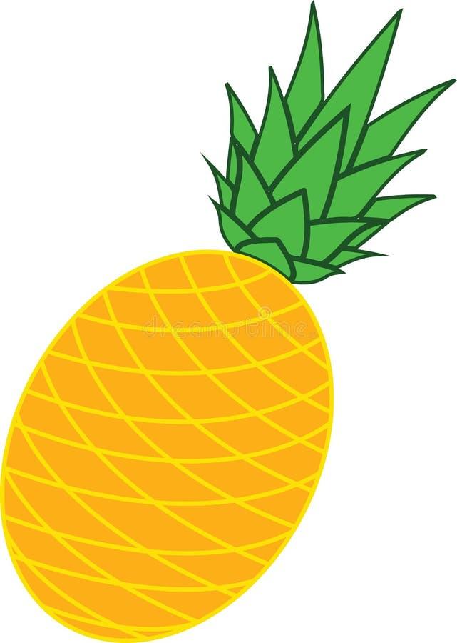Ananas jest tropikalnym owoc ilustracja wektor