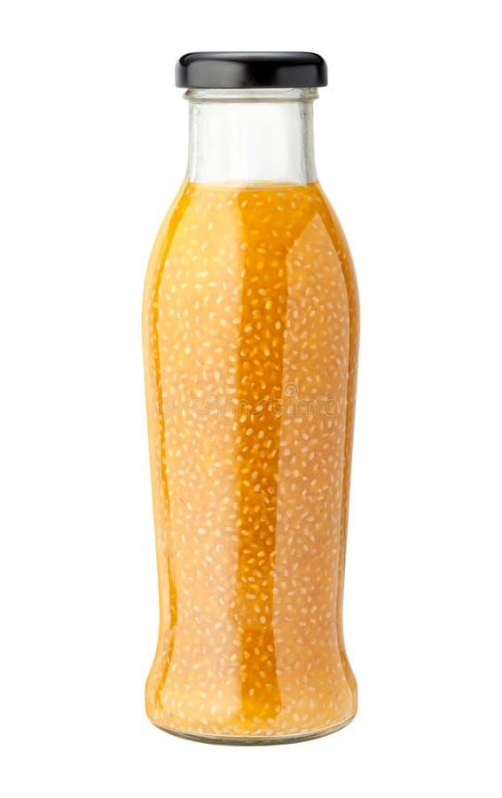 Ananas-Kokosnuss Chia Drink mit einem Beschneidungspfad lizenzfreies stockfoto