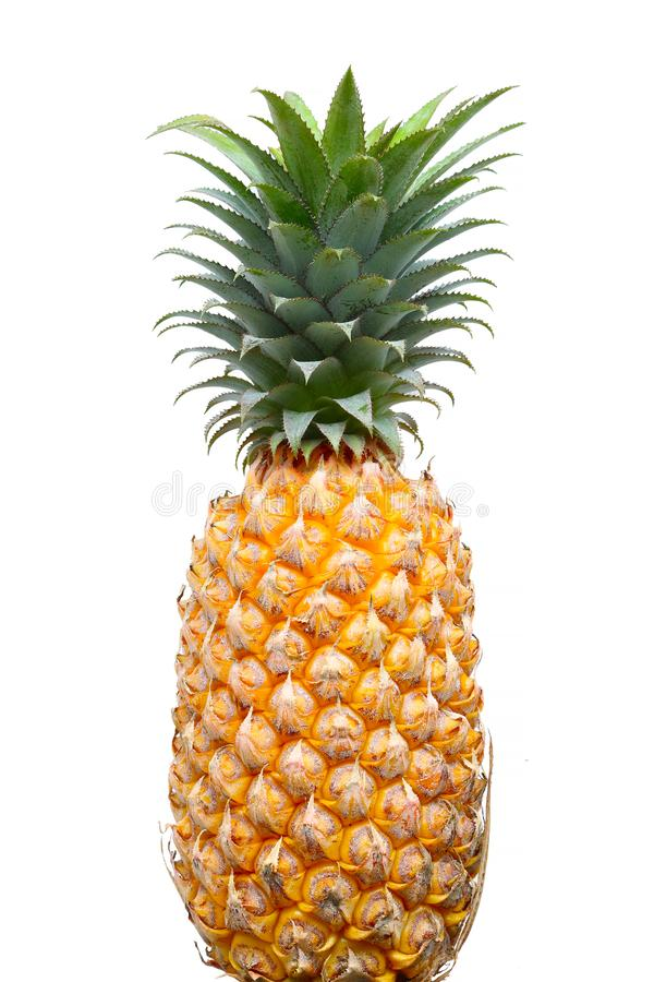 Ananas op witte achtergrond stock foto