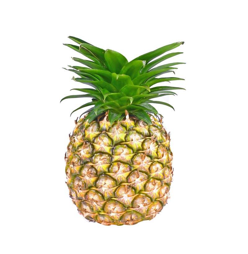 Ananas op witte achtergrond wordt geïsoleerd die stock afbeelding