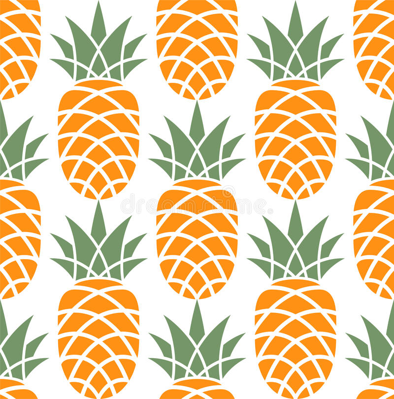 Ananas. Patroon stock illustratie