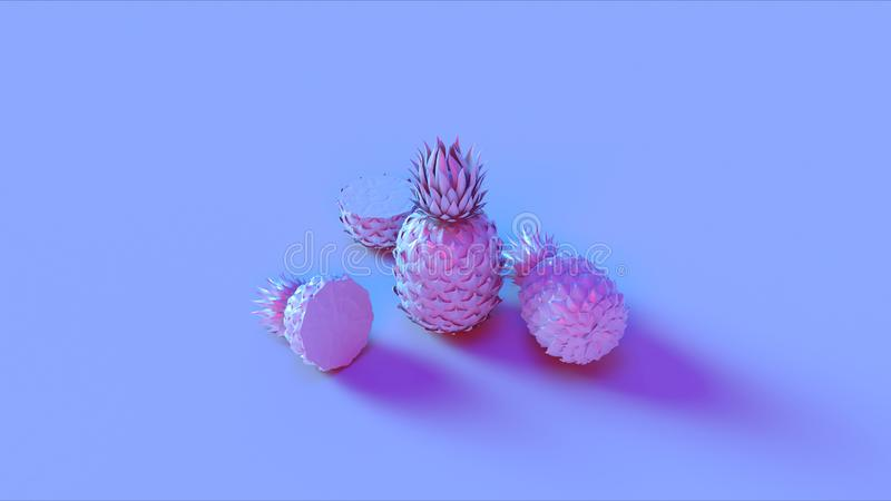 Ananas rose bleu photo stock