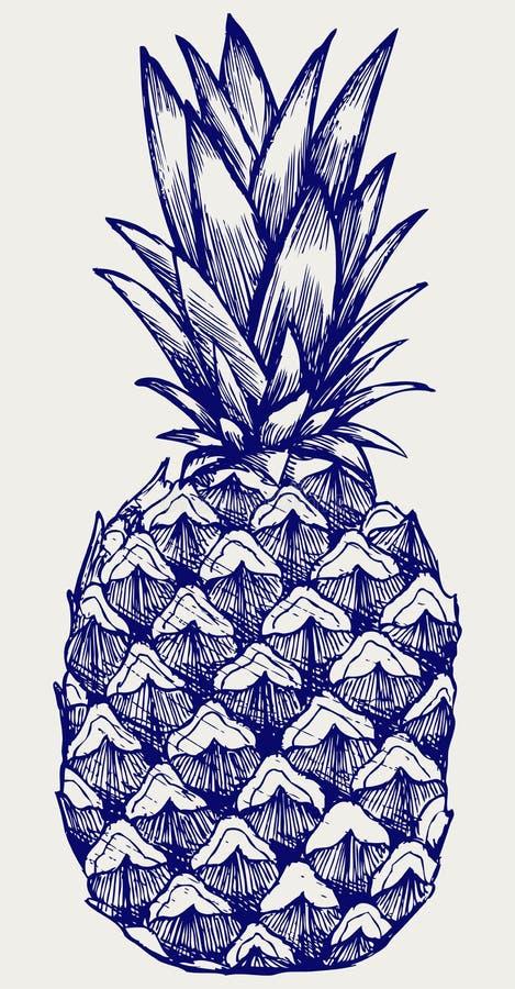 Ananas savoureux mûr illustration libre de droits