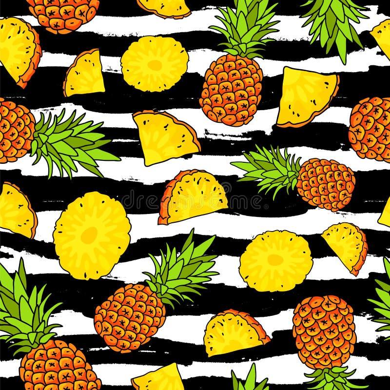 ananas Sommerzeitkonzept paradies lizenzfreie abbildung