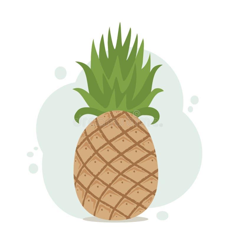 Ananas su fondo blu illustrazione vettoriale