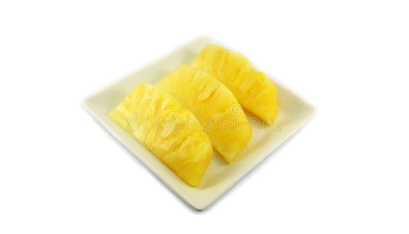 Download Ananas sul piatto immagine stock. Immagine di dessert - 55355921